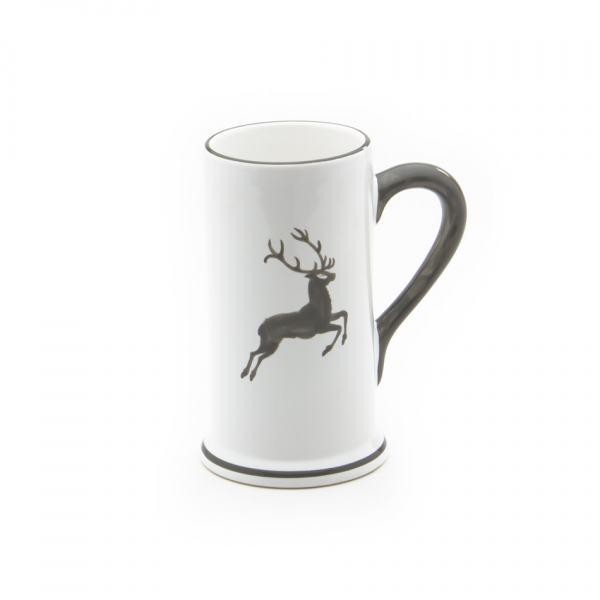 Gmundner Keramik Grauer Hirsch Bierkrug Form-A 0.3L