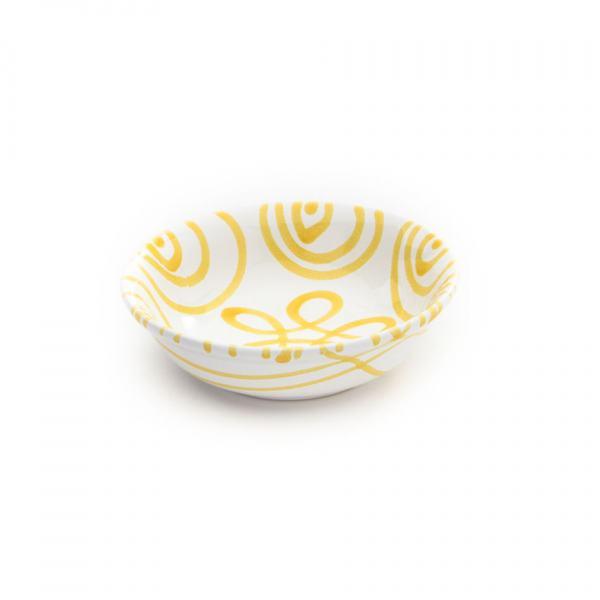 Gmundner Keramik Gelbgeflammt Müslischale klein Ø 14cm