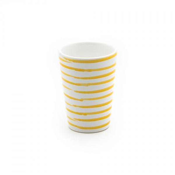 Gmundner Keramik Gelbgeflammt Trinkbecher H: 11cm