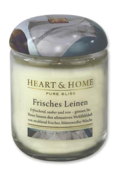 Heart & Home Duftkerze groß Frisches Leinen 310gr