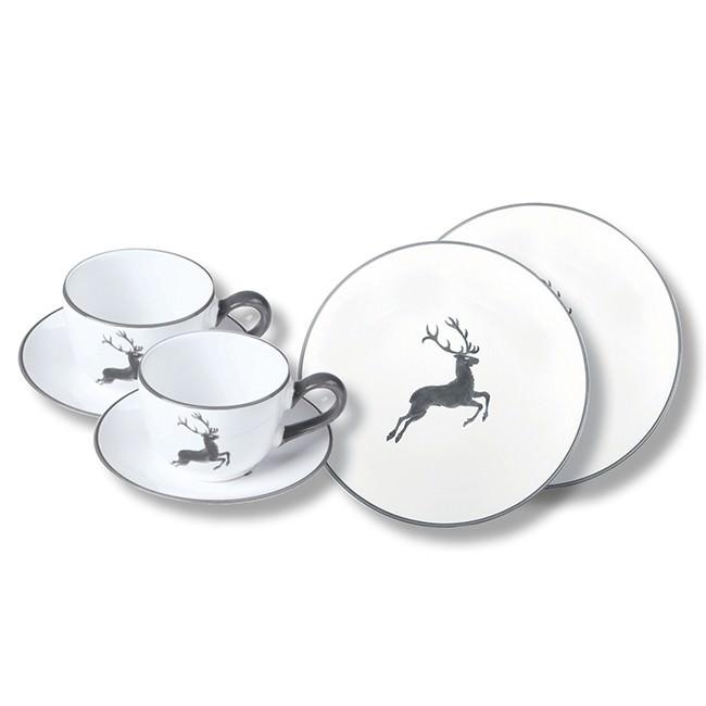 gmundner keramik grauer hirsch breakfast for two classic. Black Bedroom Furniture Sets. Home Design Ideas