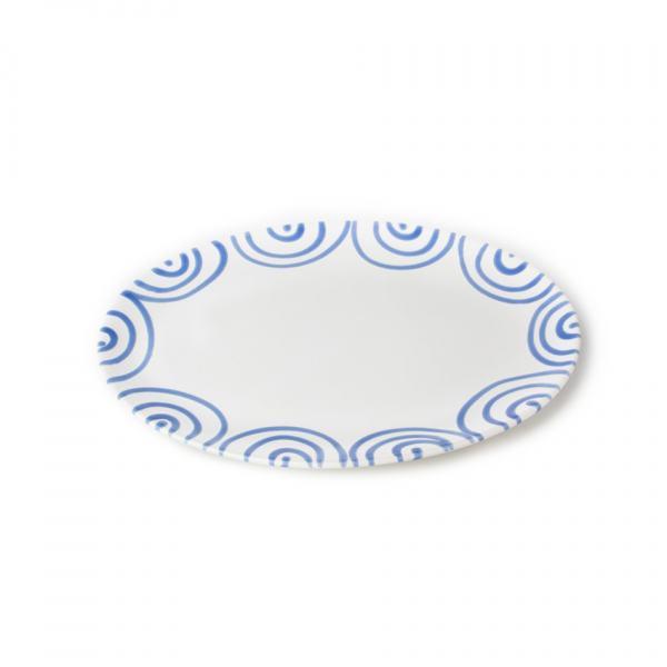 Gmundner Keramik Blaugeflammt Platte oval 33x26cm