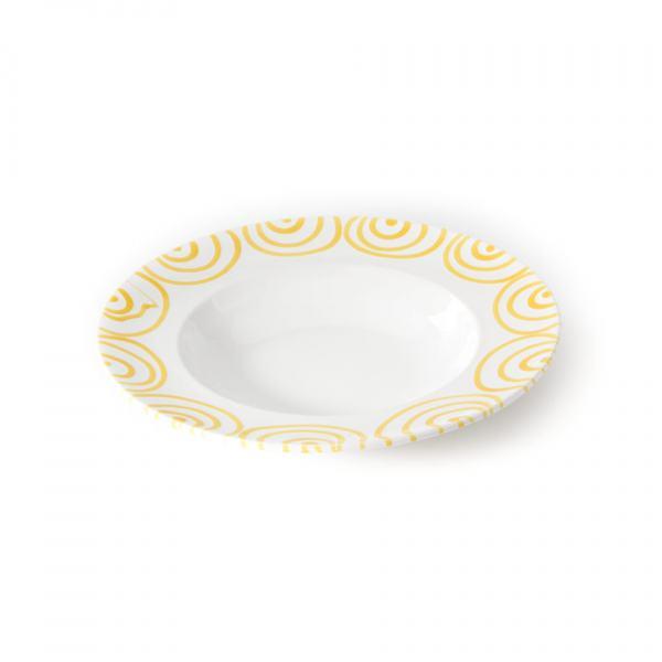 Gmundner Keramik Gelbgeflammt Pastateller Gourmet 29cm