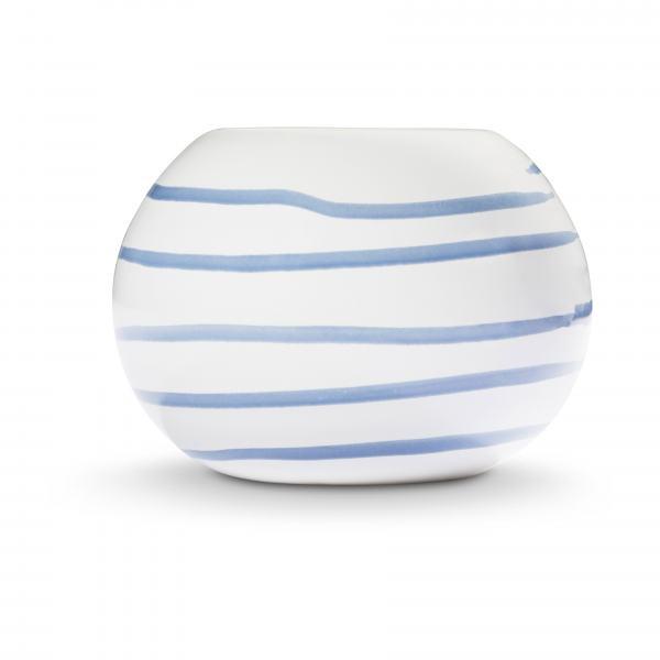 Gmundner Keramik Blaugeflammt Kugel-Leuchter/ 1 Teelicht