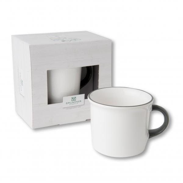 Gmundner Keramik Grauer Rand Kaffeehaferl 0,24L