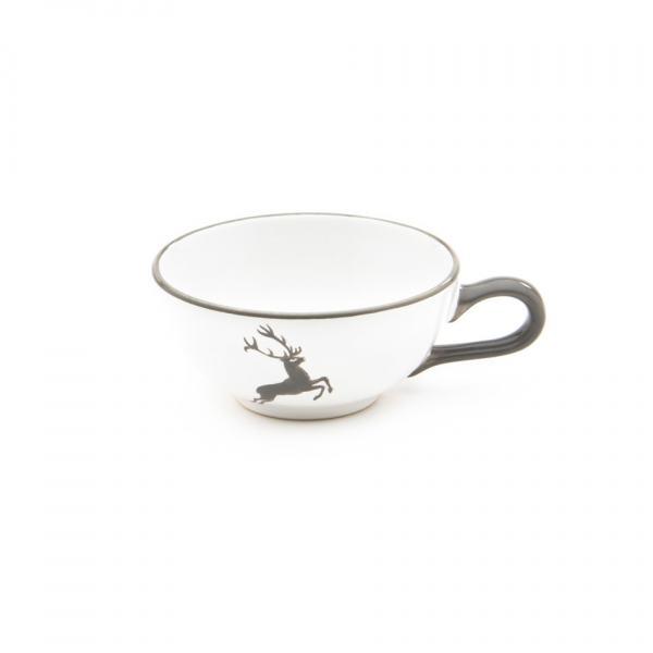 Gmundner Keramik Grauer Hirsch Teetasse glatt 0.17L