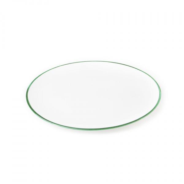 Gmundner Keramik Grüner Rand Platte oval 28x21cm