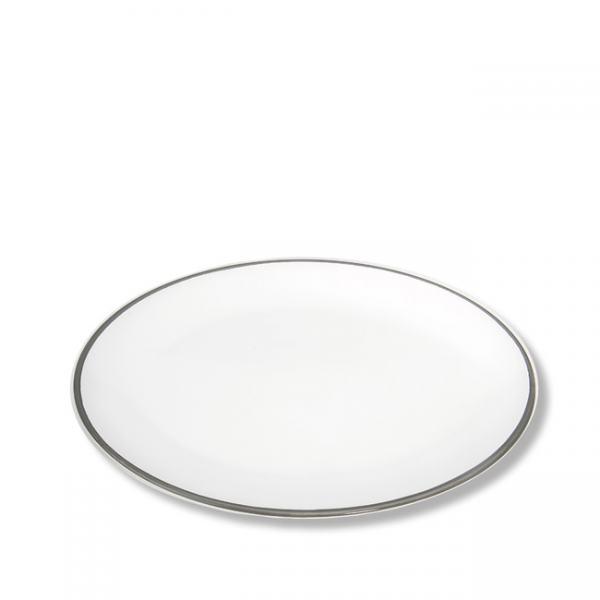 Gmundner Keramik Grauer Rand Platte oval 28x21cm
