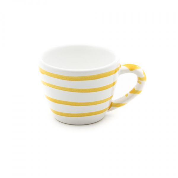Gmundner Keramik Gelbgeflammt Espressotasse Gourmet 0.06L