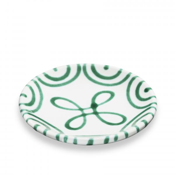 Gmundner Keramik Grüngeflammt Unterteller Mokka glatt 11cm