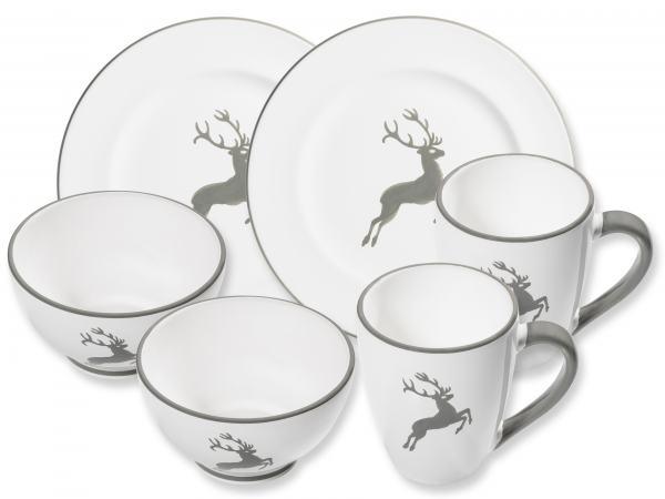Gmundner Keramik Grauer Hirsch Hüttenfrühstück Gourmet für 2