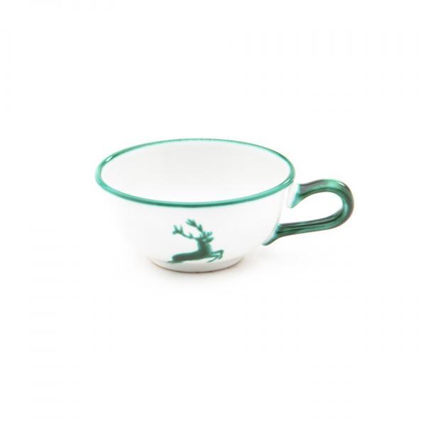 Gmundner Keramik Grüner Hirsch Teetasse glatt 0.17L