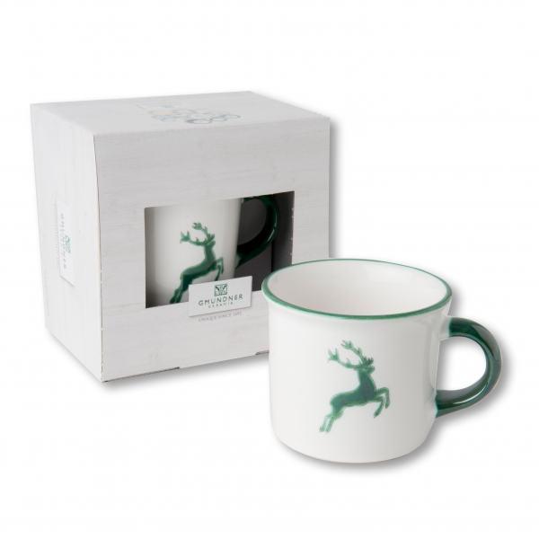 Gmundner Keramik Grüner Hirsch Kaffeehaferl 0,24L