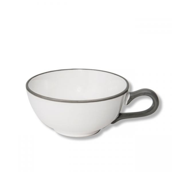Gmundner Keramik Grauer Rand Teetasse glatt 0,17L