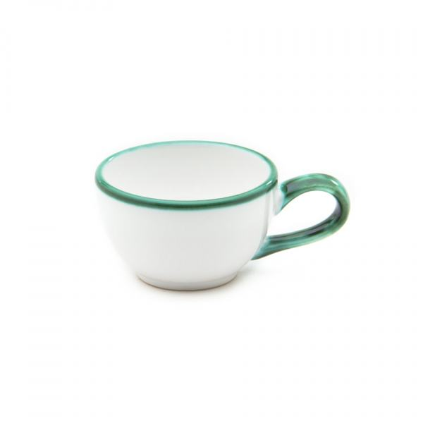 Gmundner Keramik Grüner Rand Mokkatasse glatt 0.06L