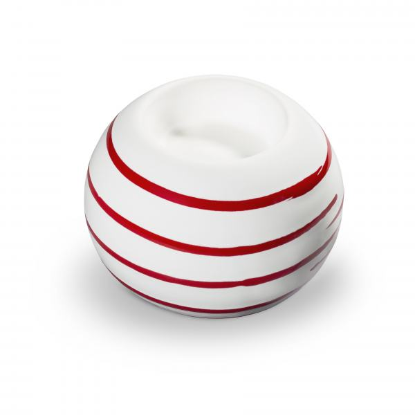 Gmundner Keramik Rotgeflammt Kugel-Leuchter/ 1 Teelicht