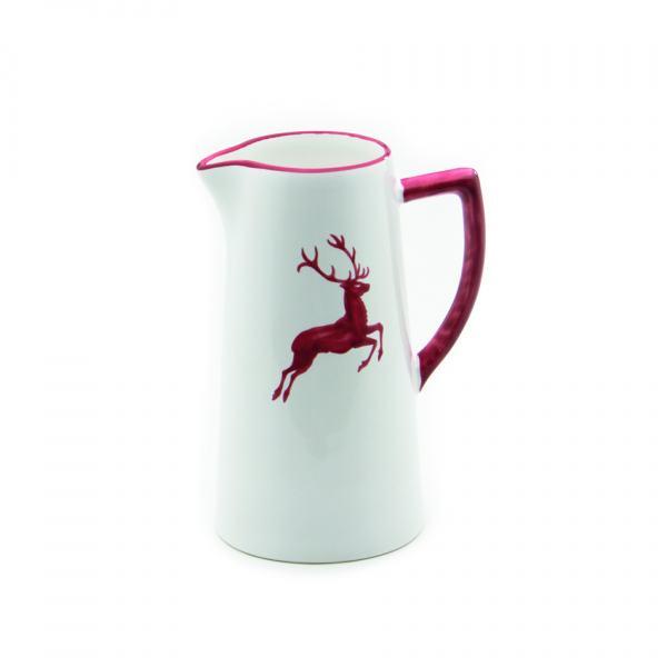 Gmundner Keramik Rubinroter Hirsch Wasserkrug (0.7L)