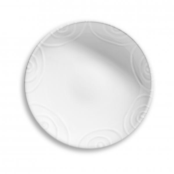 Gmundner Keramik Weißgeflammt Schale groß Ø 17cm