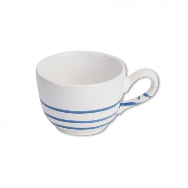 Gmundner Keramik Pur Geflammt Blau Kaffeetasse glatt (019L)