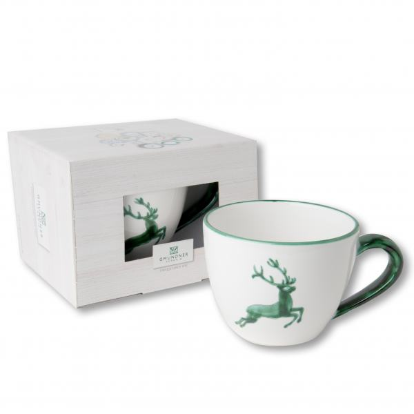 Gmundner Keramik Grüner Hirsch Teetasse Maxima 0,4L