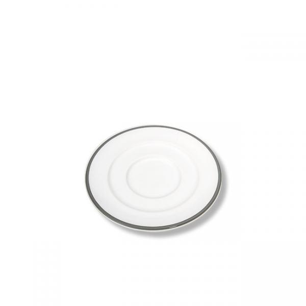 Gmundner Keramik Grauer Rand Unterteller Kaffee Gourmet 16cm