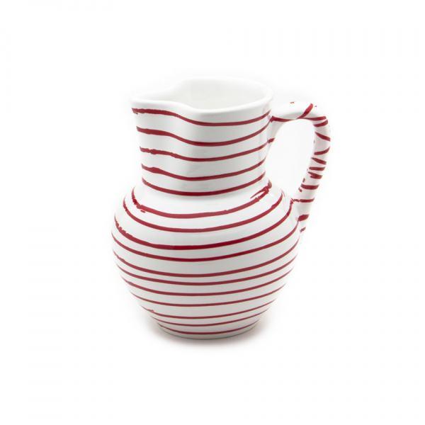Gmundner Keramik Rotgeflammt Krug Wiener Form 1L