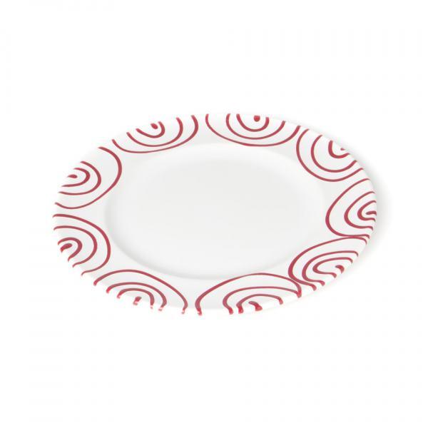 Gmundner Keramik Rotgeflammt Dessertteller Gourmet (Ø18cm)