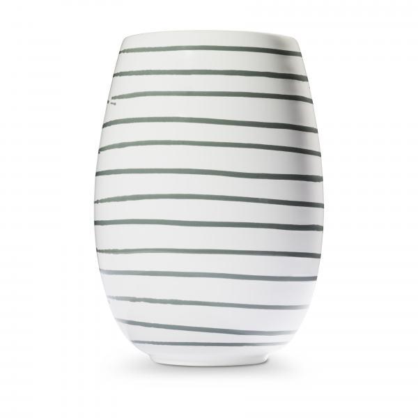 Gmundner Keramik Graugeflammt Vase H: 21cm