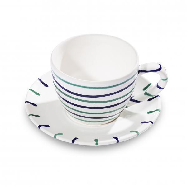 Gmundner Keramik Traunsee Teetasse Maxima mit Unterteller