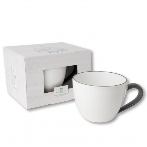 Gmundner Keramik Grauer Rand Teetasse Maxima 0,4L