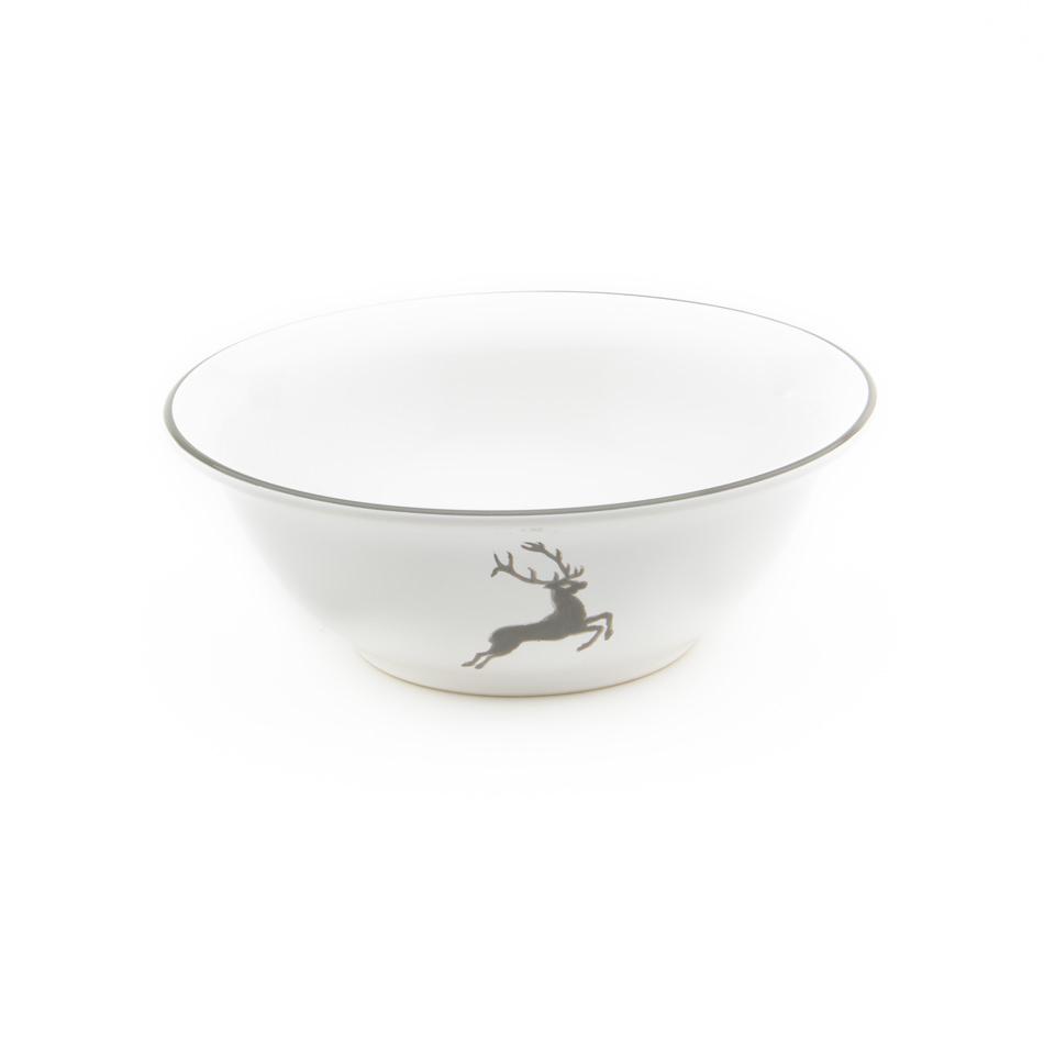 gmundner keramik grauer hirsch salatsch ssel 20cm. Black Bedroom Furniture Sets. Home Design Ideas