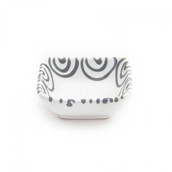 Gmundner Keramik Graugeflammt Schälchen quadratische 9x9cm