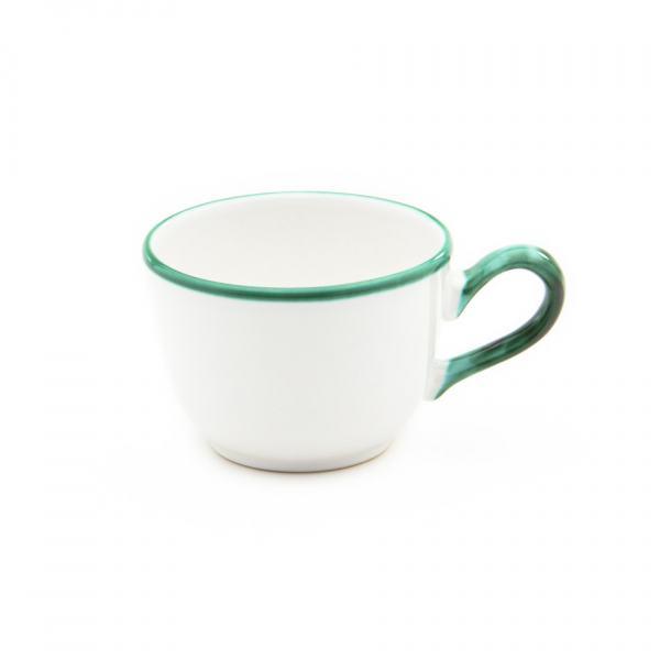 Gmundner Keramik Grüner Rand Kaffeetasse glatt (0.19L)