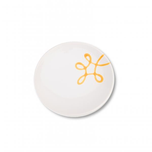 Gmundner Keramik Pur Geflammt Gelb Unterteller Kaffee Cup (Ø 15cm)