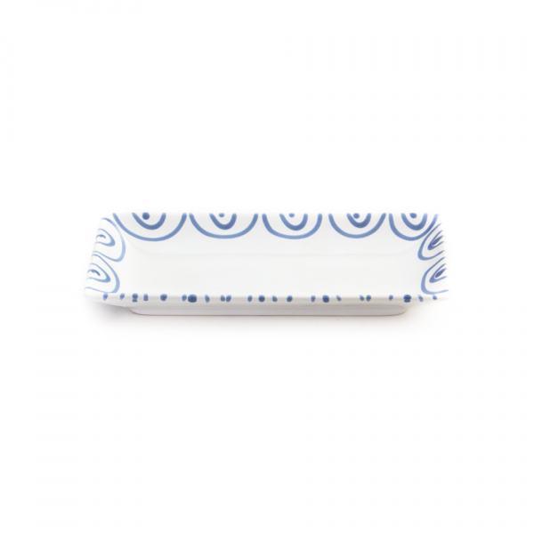 Gmundner Keramik Blaugeflammt Snackschale 22x11cm