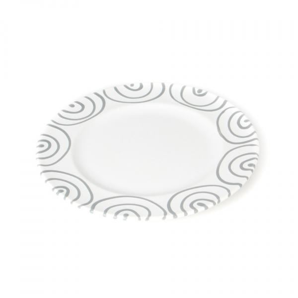 Gmundner Keramik Graugeflammt Speiseteller Gourmet 27cm