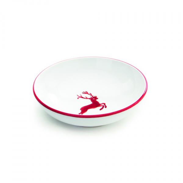 Gmundner Keramik Rubinroter Hirsch Schale groß Ø 17cm