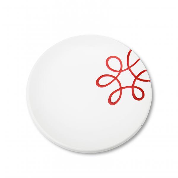 Gmundner Keramik Pur Geflammt Rot Dessertteller Cup 20cm