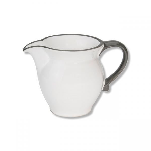 Gmundner Keramik Grauer Rand Milchgießer glatt 0,3L