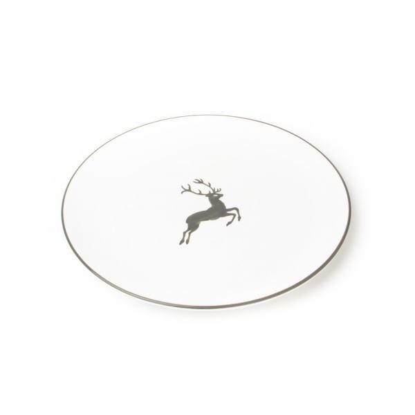 Gmundner Keramik Grauer Hirsch Speiseteller Cup 28cm