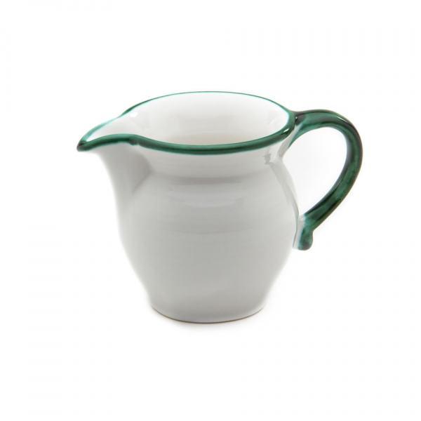 Gmundner Keramik Grüner Rand Milchgießer glatt (0.3L)