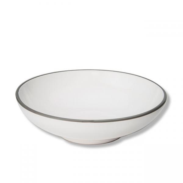 Gmundner Keramik Grauer Rand Schale groß 17cm