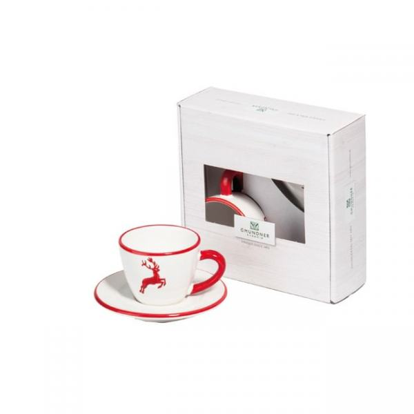 Gmundner Keramik Rubinroter Hirsch Espresso for you Gourmet