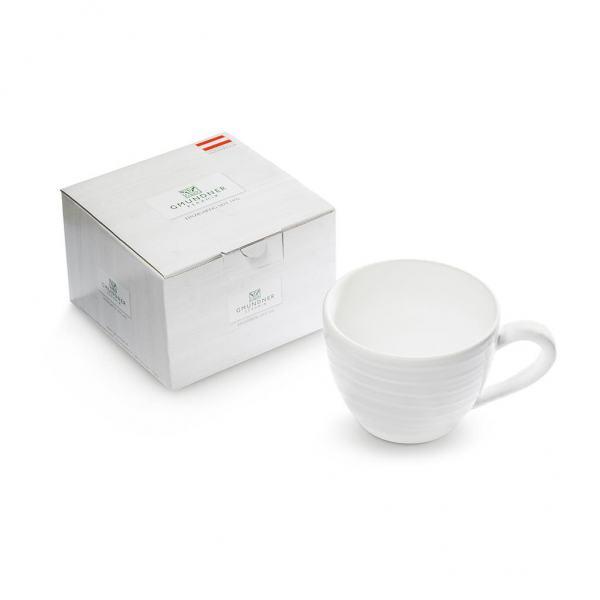 Gmundner Keramik Weißgeflammt Teetasse Maxima 04 L