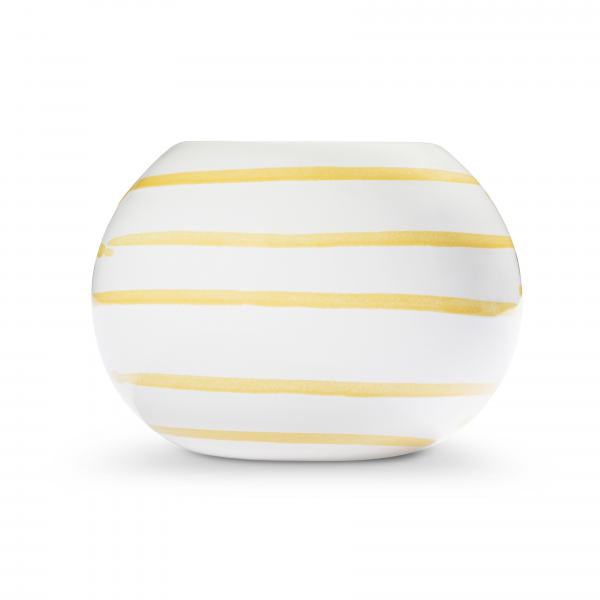 Gmundner Keramik Gelbgeflammt Kugel-Leuchter/ 1 Teelicht