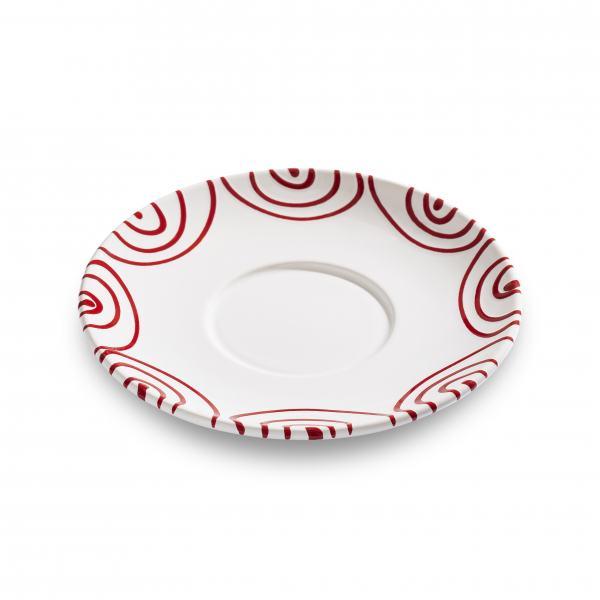 Gmundner Keramik Rotgeflammt Unterteller Teetasse Maxima Ø18cm