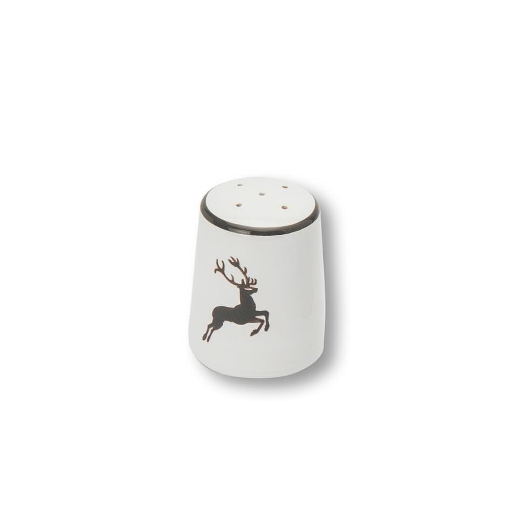Gmundner Keramik Grauer Hirsch Salzstreuer glatt