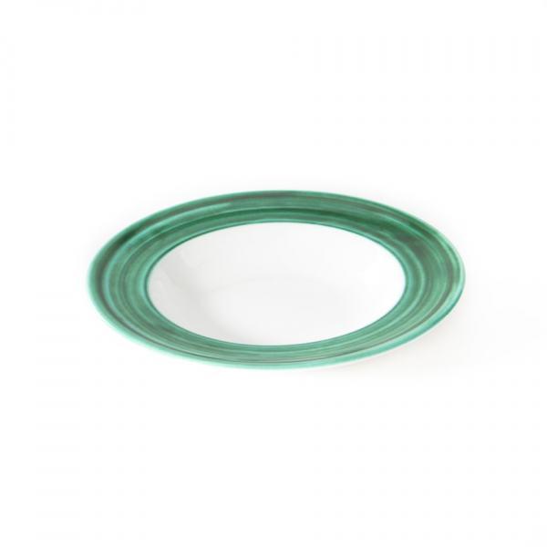 Gmundner Keramik Variation grün Suppenteller Gourmet (Ø 24cm)