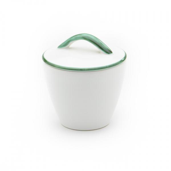 Gmundner Keramik Grüner Rand Zuckerdose Gourmet (Ø 9cm)