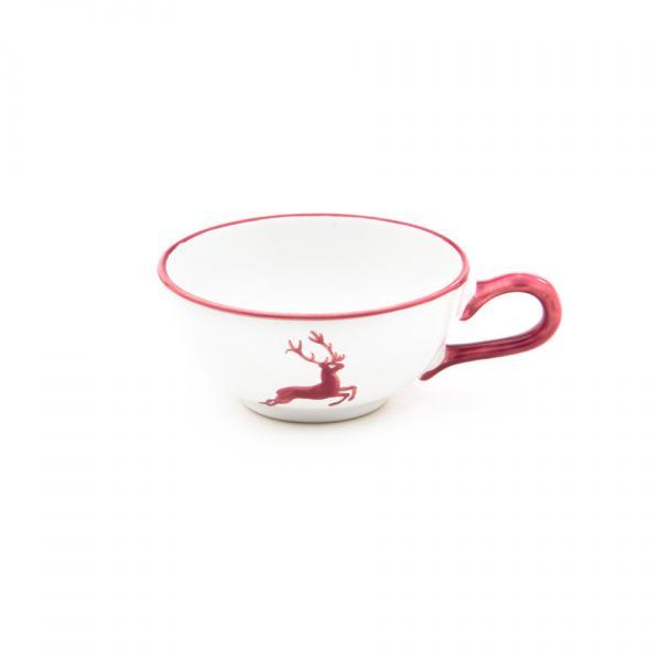 Gmundner Keramik Roter Hirsch Teetasse glatt 0.17L